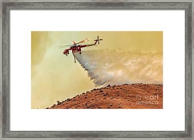 Siller Helicopter  Framed Print