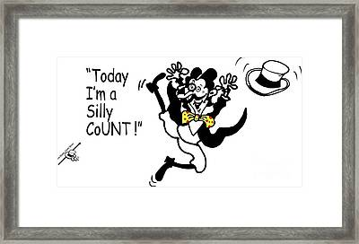 Silly Count Framed Print by Mugs Afloat