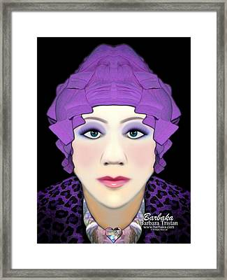 Framed Print featuring the photograph Silly Headdress by Barbara Tristan