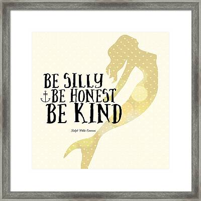 Silly Honest Kind Mermaid V4 Framed Print