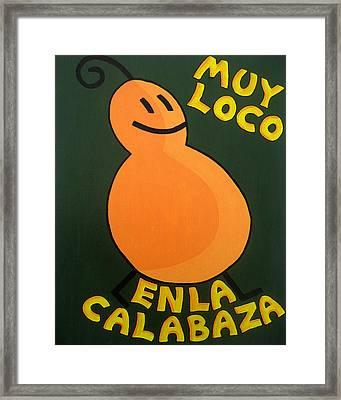 Silly Squash Framed Print by Oliver Johnston