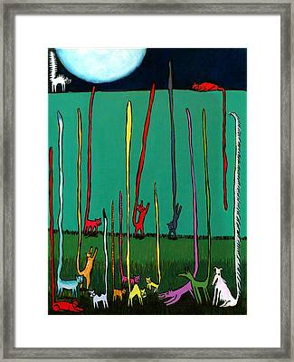 Silly Tall Tales - Er - Tails Framed Print