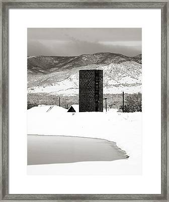 Silo And Silence Framed Print by Marilyn Hunt