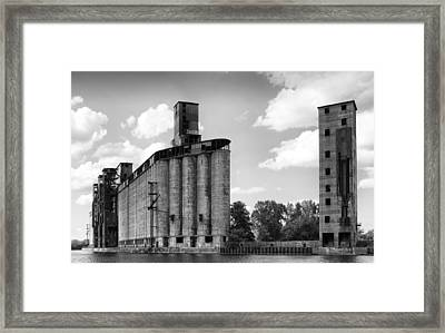 Silo City 3 Framed Print by Peter Chilelli