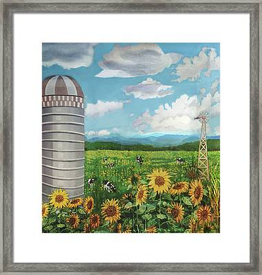 Silo Farm Framed Print