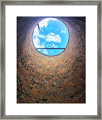 Silo Look Up Framed Print