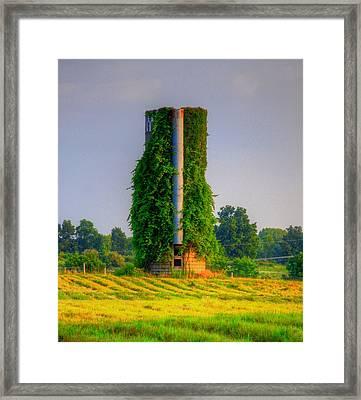 Silo Framed Print by Robert Pearson