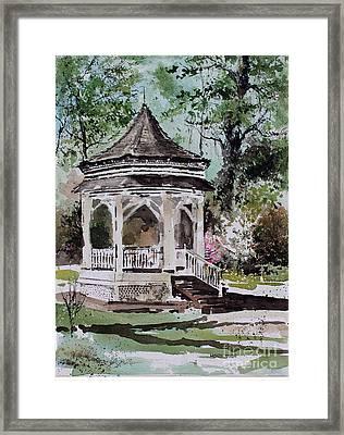 Siloam Springs Park Framed Print by Monte Toon