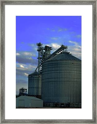 Silos On The Tennessee River Framed Print by Lesa Fine