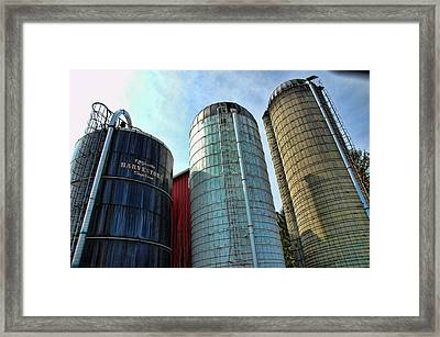 Silos Framed Print by Paul Ward