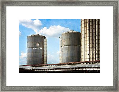 Framed Print featuring the photograph Silos by Todd Blanchard