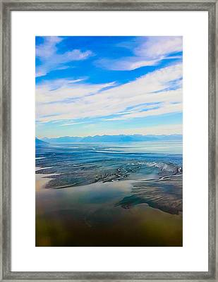 Silty Sand In Cook Inlet Framed Print