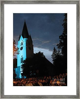 Framed Print featuring the photograph Silute Lutheran Evangelic Church Lithuania by Ausra Huntington nee Paulauskaite
