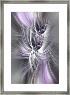 Silver Abstract Ascension. Mystery Of Colors Framed Print by Jenny Rainbow