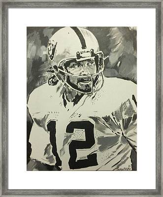 Silver And Black Attack Framed Print by Gianpiero M