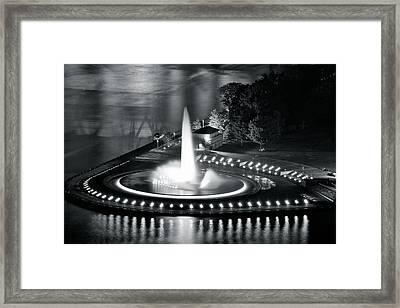 Silver And Black Framed Print by Frozen in Time Fine Art Photography