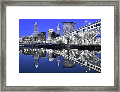 Silver And Blue  Framed Print by Frozen in Time Fine Art Photography