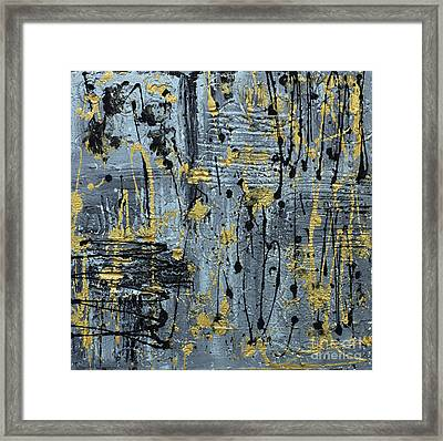 Framed Print featuring the painting Silver And Gold  by Cathy Beharriell