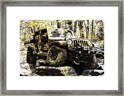 Silver And Gold Jeep Wrangler Jku Framed Print