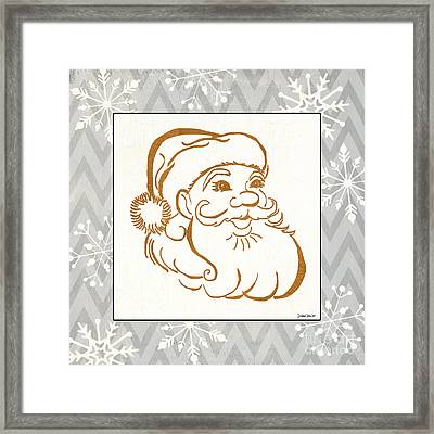 Silver And Gold Santa Framed Print by Debbie DeWitt
