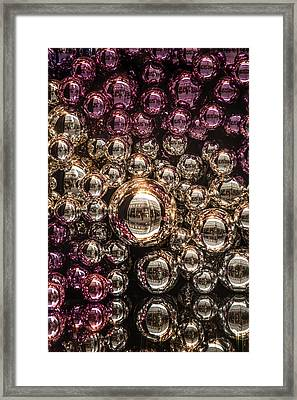 Silver And Purple Christmas Balls Framed Print