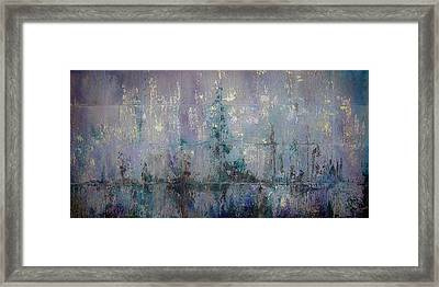 Silver And Silent Framed Print by Shadia Zayed