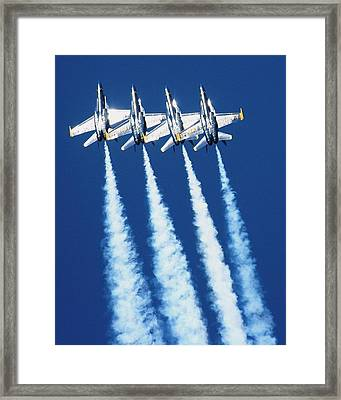 Silver Angels Framed Print by Melanie Beasley