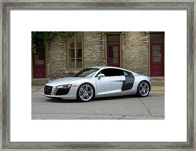 Silver Audi R8 Framed Print by Joel Witmeyer