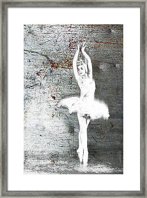 Silver Ballet Dancer Extended Framed Print by Tony Rubino