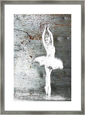 Silver Ballet Dancer Extended Framed Print