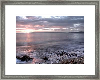 Silver Beach Framed Print by Svetlana Sewell