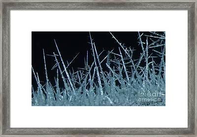 Silver Crystal Framed Print
