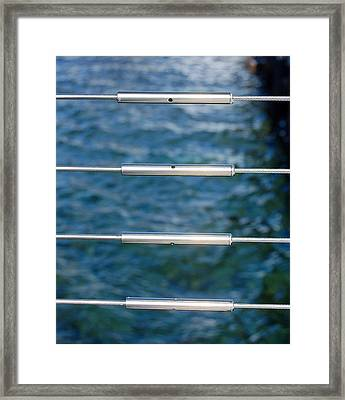 Silver Blues Framed Print by Heather S Huston