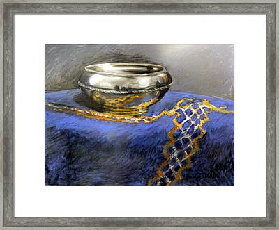 Silver Bowl Framed Print by Lenore Gaudet