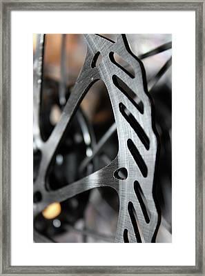 Silver Brake Framed Print by Angie Wingerd