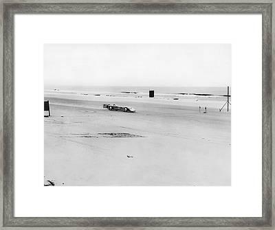 Silver Bullet At Daytona Framed Print by Underwood Archives