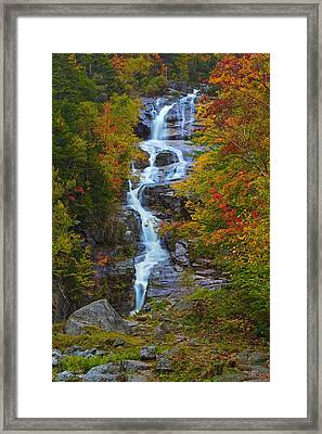Silver Cascade Framed Print