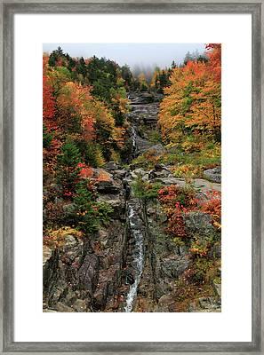 Silver Cascade Falls Crawford Notch State Park Framed Print