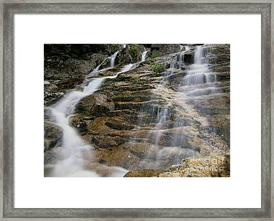 Silver Cascades - Crawford Notch New Hampshire Framed Print by Erin Paul Donovan