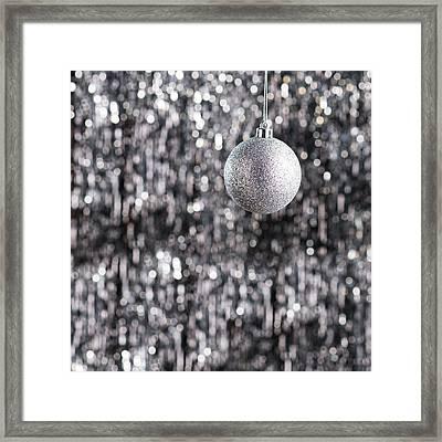 Framed Print featuring the photograph Silver Christmas by Ulrich Schade