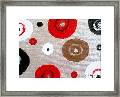 Silver Circle Abstract Framed Print by Jamie Frier
