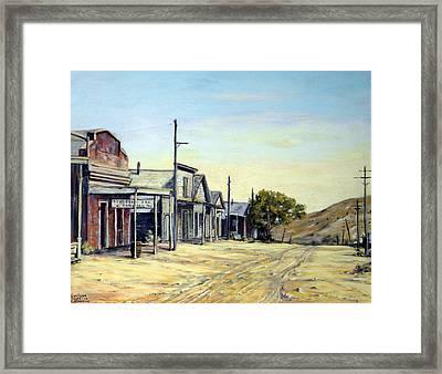 Silver City Nevada Framed Print by Evelyne Boynton Grierson