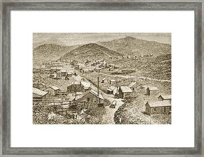 Silver City Nevada In 1870s. From Framed Print