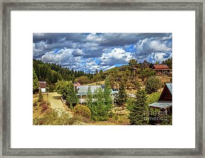 Silver City Framed Print