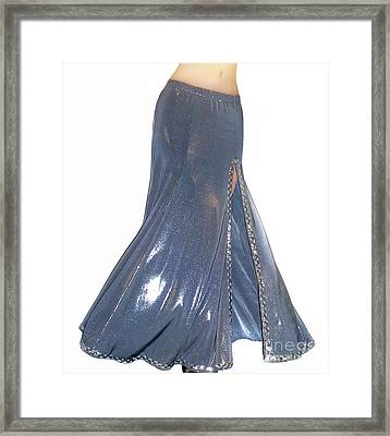 Silver Color Skirt. Ameynra Fashion Framed Print by Sofia Metal Queen