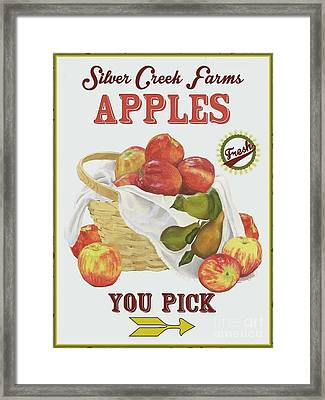 Silver Creek Farms Apples Framed Print by Mandy Penney