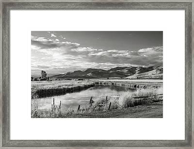 Silver Creek Framed Print