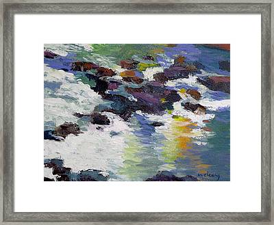 Silver Creek No. 6 Framed Print by Melody Cleary