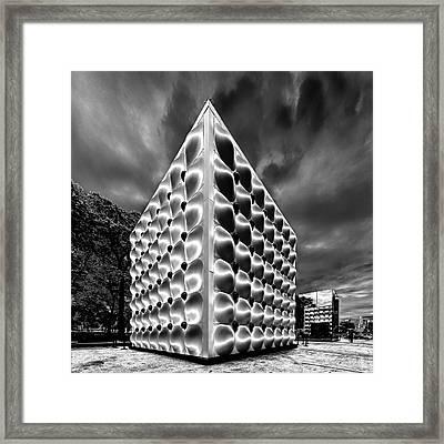 Silver Dice Framed Print by Louis Dallara