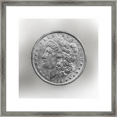 Silver Dollar Coin Framed Print by Randy Steele